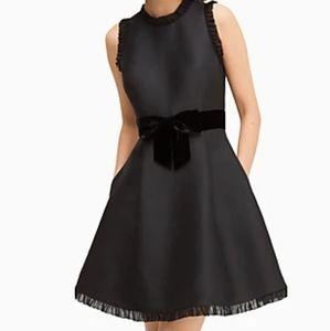 Kate Spade velvet bow fit & flare dress